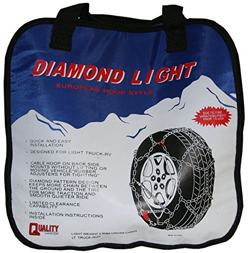 Quality Chain Diamond Back LT 3.7mm Link Tire Chains (Rubber Adjuster Style) (2329LW)