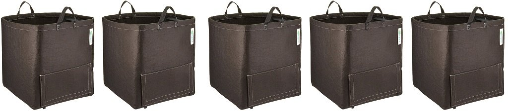Geopot GEO-POTATO Potato Bag with Handles (5-(Pack))
