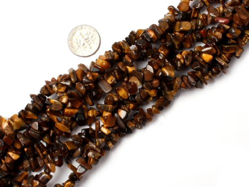 Eye Tiger Beads 8mm - Joe Foreman 6-8mm Tiger Eye Natural Stone Gravel Gemstone Chips Beads For Jewelry Making Loose Beads Wholesale Freeform Yellow Brown 34