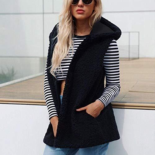 La Manche Jacket Hiver Cadeau En Femme An Sans Peau Soeur Manteau Noir Femme De Taille Noel Chaud Veste À Grande Nouvel mère Mouton fille Autome Pour Mode Peluche gaqfyvyYwO