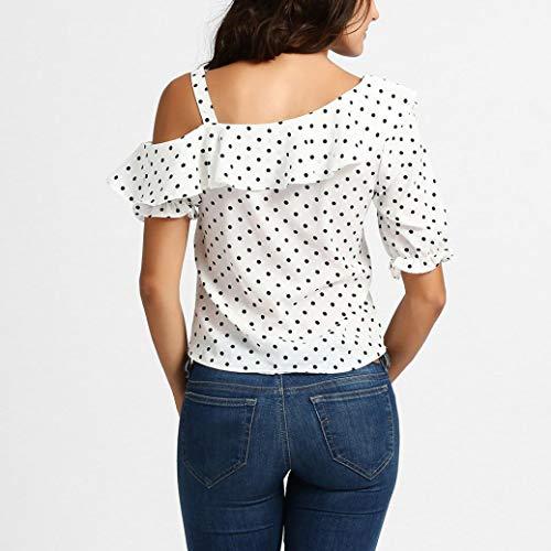 Femme aztque Taille noue Shirt Blanc Imprim T Col Women Kanpola Manches Longues Rond YwOqPAg