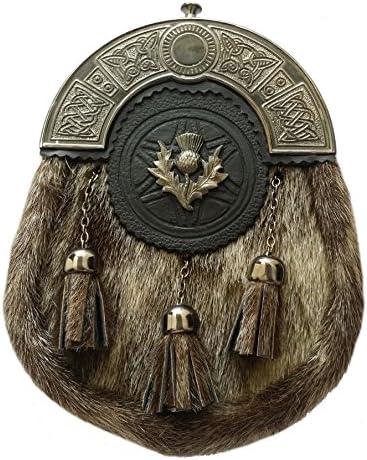 Herren Schottischer Semi Kleid Kilt Sporran Löwen Antik Highland Sporrans