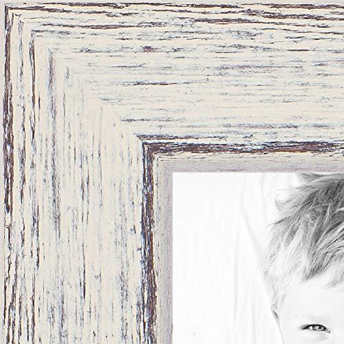 (ArtToFrames 7x10 inch Eggshell Rustic Barnwood Wood Picture Frame, 2WOM0066-1343-YWHT-7x10)