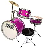 TKO 99TKO99DM 3-Piece Junior Drum Set,  Deep Magenta