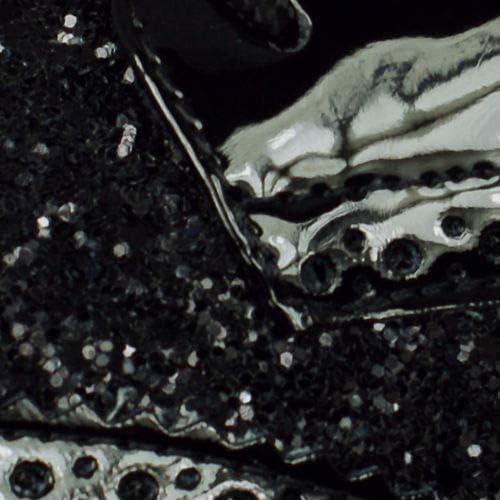 Geox D breeda un brevet paillettes Smart Casual Shoes Fashion lacets Oxford Noir