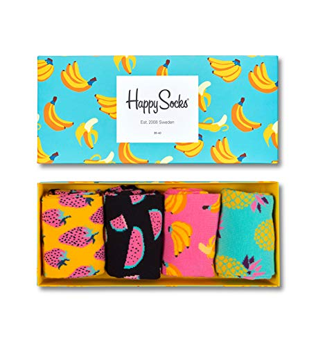 Happy Socks Fruit Socks Gift Box Turquoise,Yellow 10-13