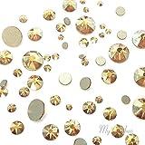 CRYSTAL METALLIC SUNSHINE (001 METSH) gold 144 pcs Swarovski 2058/2088 Crystal Flatbacks gold rhinestones nail art mixed with Sizes ss5, ss7, ss9, ss12, ss16, ss20, ss30 from Mychobos (Crystal-Wholesale)