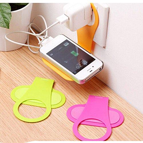 new-foldable-wall-charging-shelf-hanger-cell-phone-charging-holder-random-color