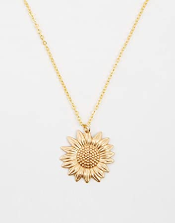 Amazon 0001 sunflower necklace gold sunflower charm on a gold amazon 0001 sunflower necklace gold sunflower charm on a gold cable chain aloadofball Gallery