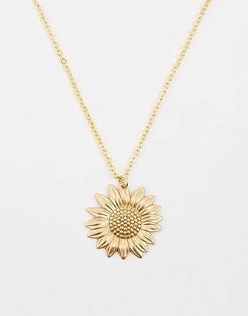 Amazon sunflower necklace gold sunflower charm on a gold cable amazon sunflower necklace gold sunflower charm on a gold cable chain aloadofball Gallery
