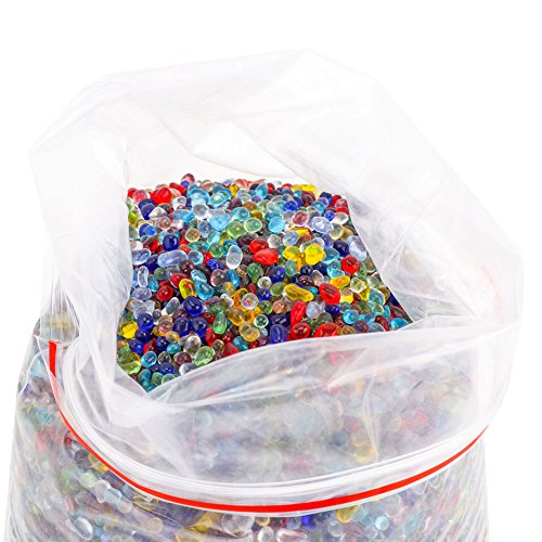 Yarssir 2 lb Aquarium Fish Turtle Tank Landscape Bottom Decoration Colorful Opal Glass Sand Stone Rocks Pebble Gravel For Vase Filler, Table Scatter, Aquarium (Aquarium Table Glass Aquarium)