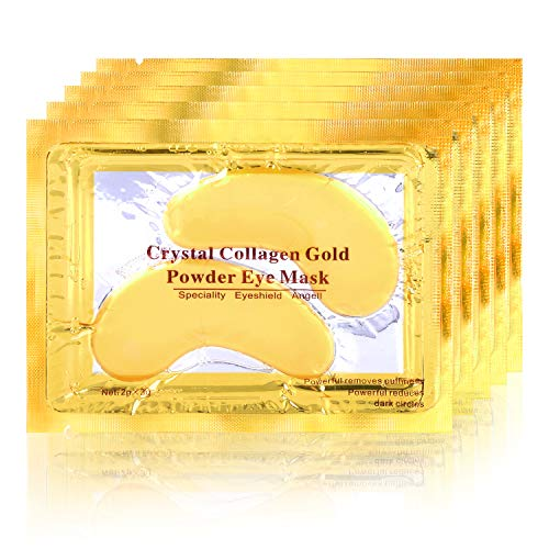 POSTA Gold Eye Mask, 20 Pairs Eye Treatment Mask With Collagen, Under Eye Mask Treatment for Puffy Eyes, Dark Circles Corrector, Used for Eye Bags, Anti Aging Patches Luxury Gift for Women and Men