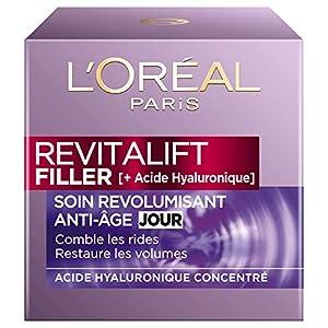 L'Oréal Paris – Revitalift – Filler – Soin Jour Revolumisant – Anti-Rides & Volume – Anti-Âge – Concentré en Acide…