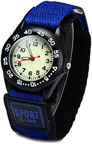 Wdnba Kids Outdoor Sports Children's Waterproof Wrist Watch 3D Watches for Boy Girl -Blue
