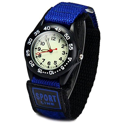 Wdnba® Kids Outdoor Sports Children's Waterproof Wrist Watch 3D Watches for Boy Girl -Blue