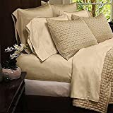 Mandarin Home Luxury Bamboo Derived from Rayon and Microfiber Blend Bed Sheets - Eco-friendly, Hypoallergenic and Wrinkle Resistant - 4-Piece - Queen - Cream