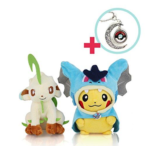 Power Necklace - Leafeon - Pokémon (Mega Charizard X Pikachu) 5-6 in / Enjoy the Pokemon Plush Toy with PokemonGo!