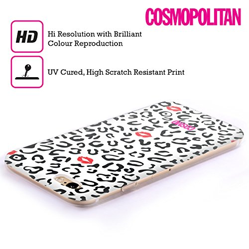 Official Cosmopolitan Black And White Sassy Leopard Soft Gel Case for Apple iPhone 5c