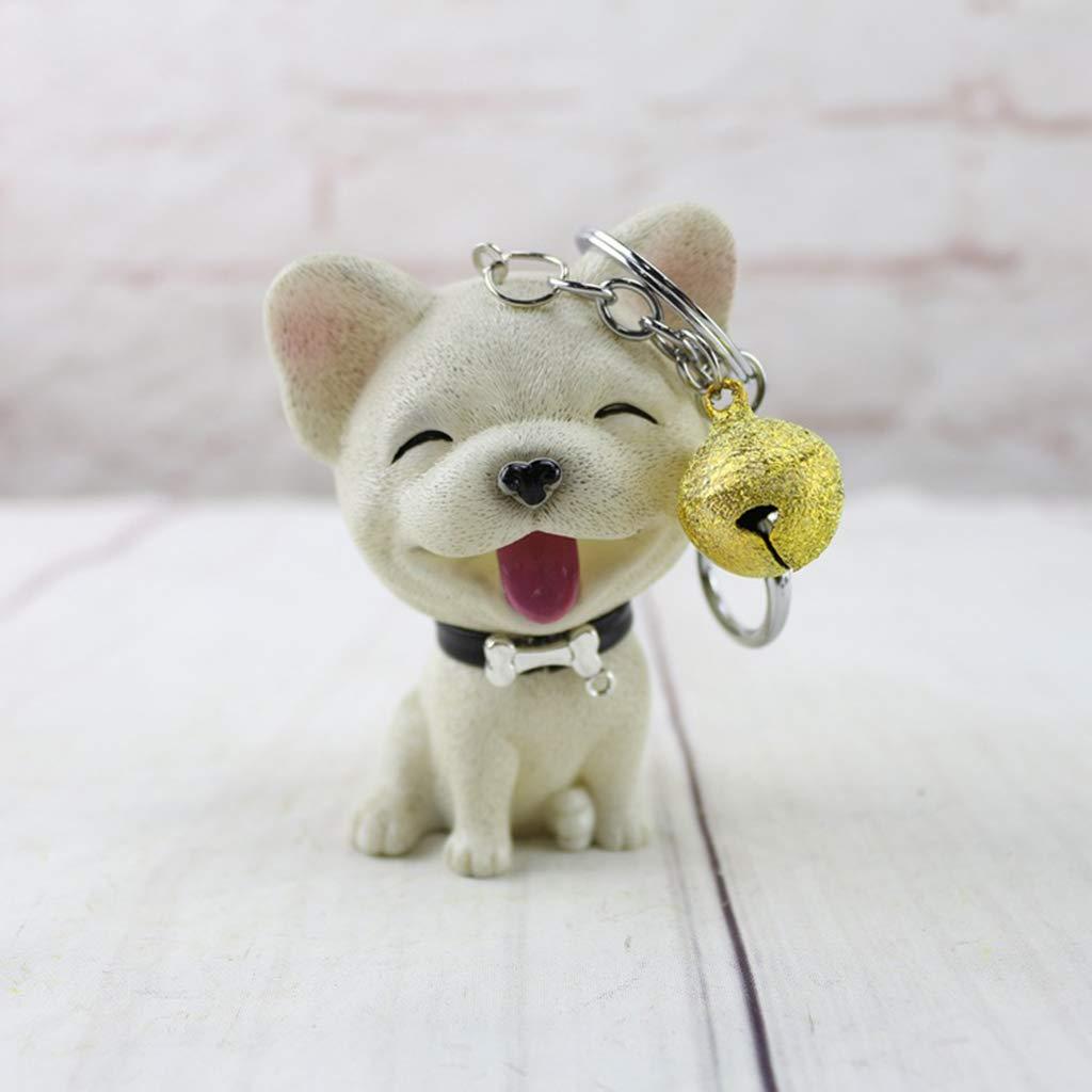 Homyl Llavero con Anillo Metal Colgante de Figura de Perro con Campana Mujer Hombre Shiba inu
