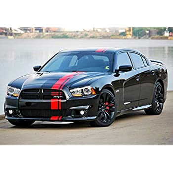 Decal sticker vinyl body racing stripe kit compatible with dodge charger srt 8 sxt r