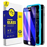 SmartDevil for iPhone 7 Plus/8 Plus Screen Protector [2 Pack], Anti Blue Light Tempered Glass [ Eye Protect ],[Easy Installation Frame],Premium Screen Protector for iphone 7 Plus/8 Plus [5.5 Inch]