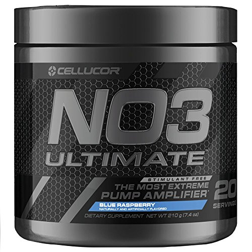 Muscle Amplifier Pump (Cellucor NO3 Ultimate Nitric Oxide Supplement, Premier Nitric Oxide Booster & Pump Amplifier For Muscle Growth, Blue Razz, 20 Servings)