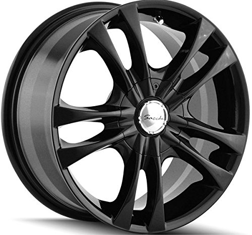 Sacchi S2 16 Black Wheel / Rim 5x105 & 5x4.5 with a 40mm Offset and a 72.62 Hub Bore. Partnumber 220-6727B (Chevy Cruze 2011 Rims compare prices)