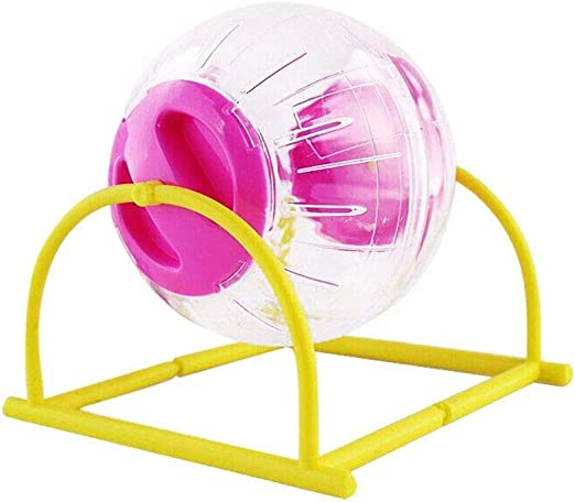 Nubstoer - Pelota de plástico para hámster con Soporte, 12 cm ...