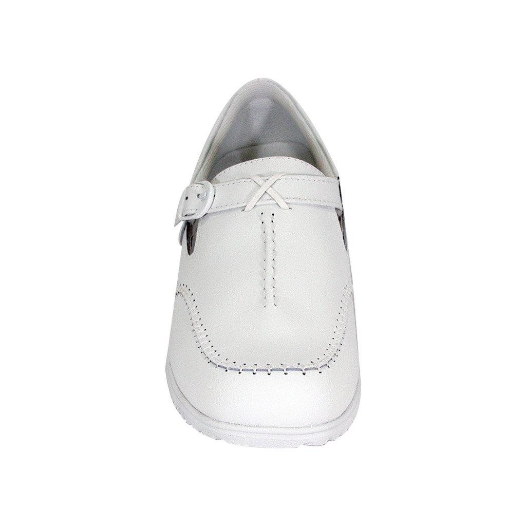 24 Hour Comfort  Lauren Women Wide Width Buckle Comfort Shoes White 11 by 24 Hour Comfort (Image #3)