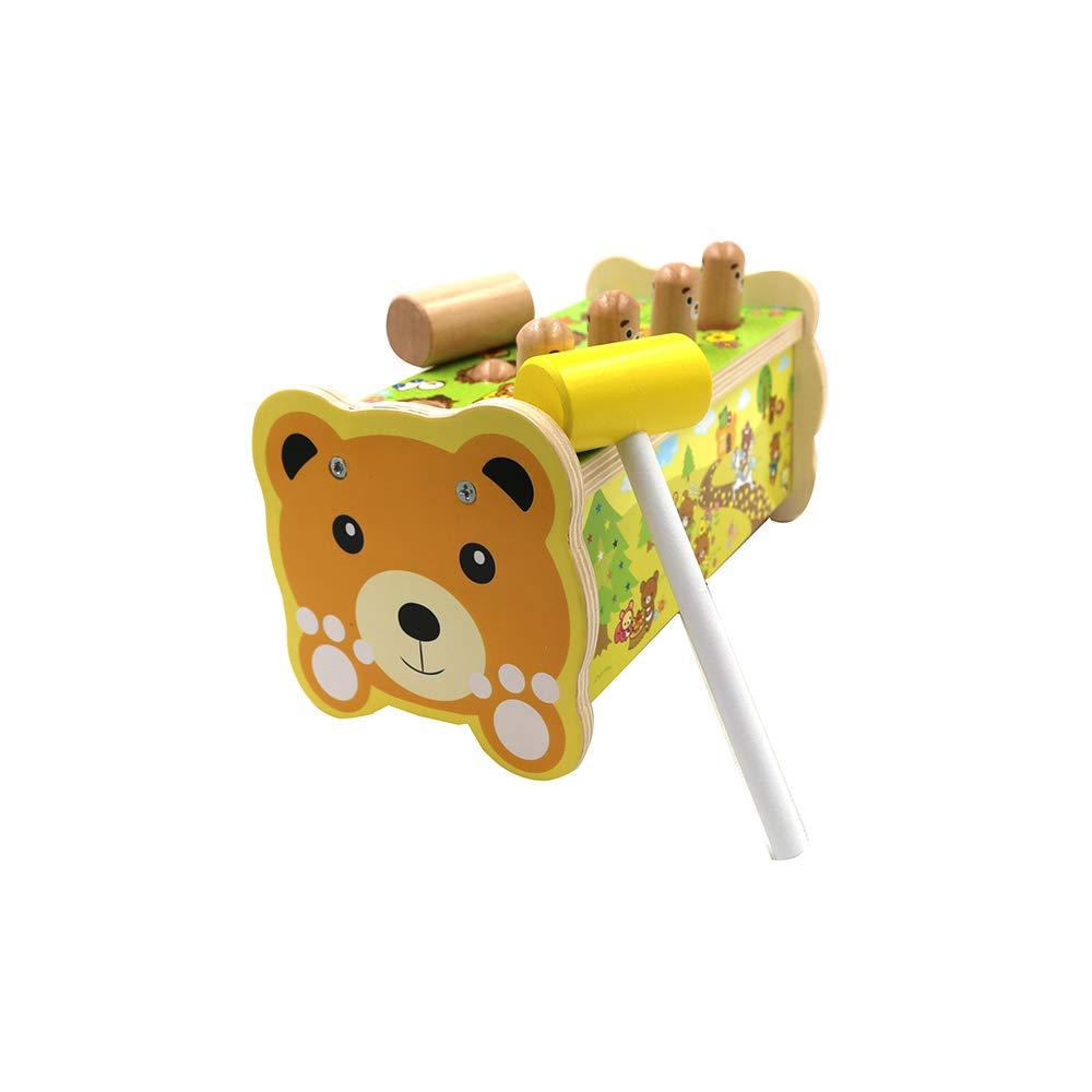Jouets Jouets éducatifs pour enfants Respectueux de l'environnement Jouet en bois d'ours Jouets pour enfants Jour d'anniversaire de Noël pour les enfants adaptés pour bébé jouant plus de 3 ans 1PCS