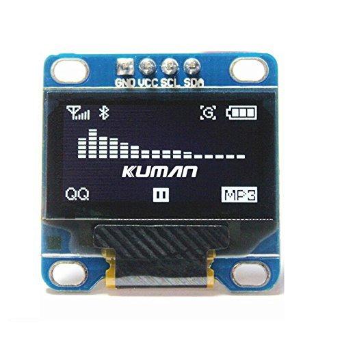 oled arduino]Kuman 0 96 Inch Yellow Blue IIC OLED Moudle I2c