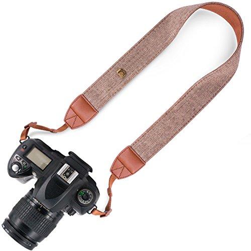 Elvam Universal Men and Women Camera Strap Belt Compatible for All DSLR Camera and SLR Camera - Brown