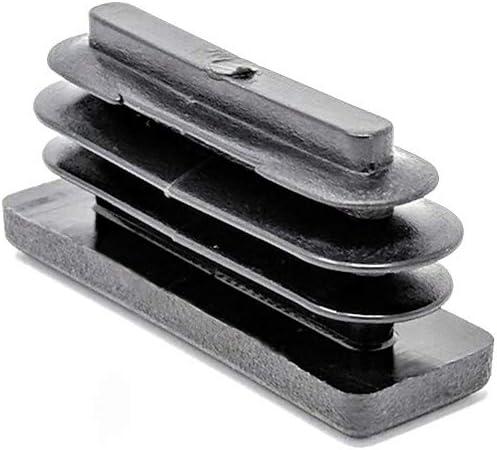 acanaladas y de pl/ástico negro fabricadas en Alemania 8 unidades Tapas para inserciones cuadradas y rectangulares