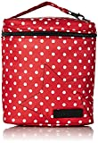 JuJuBe Fuel Cell Reusable/Insulated Bottle Bag and Lunchbox, Onyx Collection - Black Ruby - Red/White Polka Dots