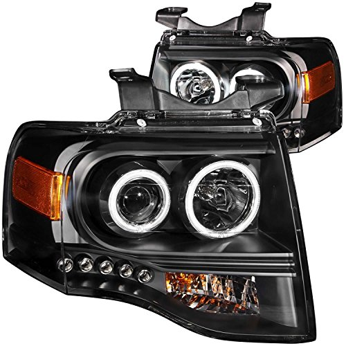 2007-2012 Ford Expedition Ccfl Halo Projector Headlights + 8 Led Fog Bumper Light