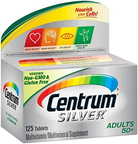 Centrum Silver Adult (125 Count) Multivitamin / Multimineral Supplement Tablet, Vitamin D3, Age 50+