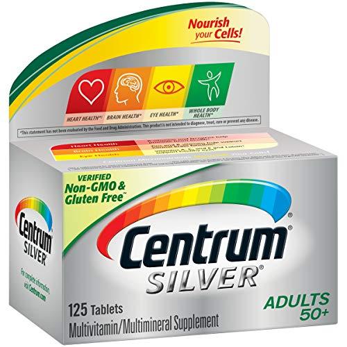 Centrum Silver Adult (125 Count) Multivitamin / Multimineral Supplement Tablet, Vitamin D3, Age 50+ (Centrum Silver 125 Tablets)