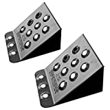 Discount Ramps Pair of Steel Automotive Wheel Stops for Car, Pickup, or Trailer