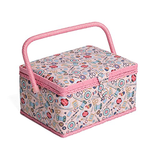 Hobby Gift MRM/187 | Contemporary Notions Print Medium Sewing Basket 18½x26x15cm by Sewing-Online