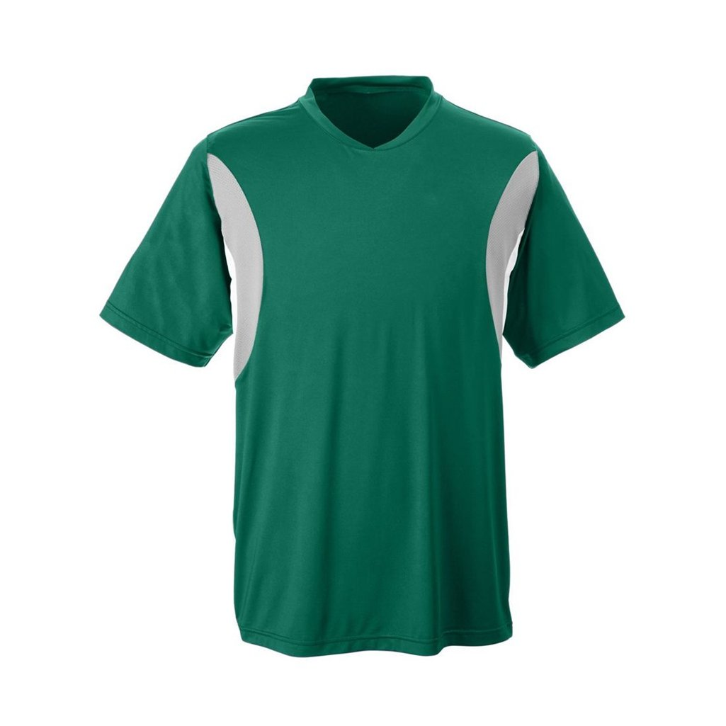Ash City Apparel Team 365 Mens Short-Sleeve Athletic V-Neck All Sport Jersey (Small, Sport Forest) by Ash City Apparel