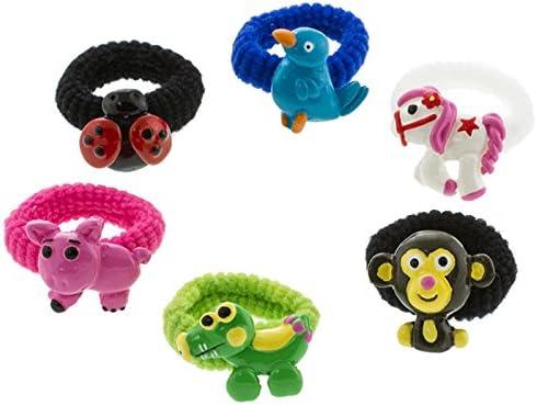 Gomas de pelo cabello joyas set Animales para niños en rosa caja de pelo todos los liebst: Amazon.es: Juguetes y juegos
