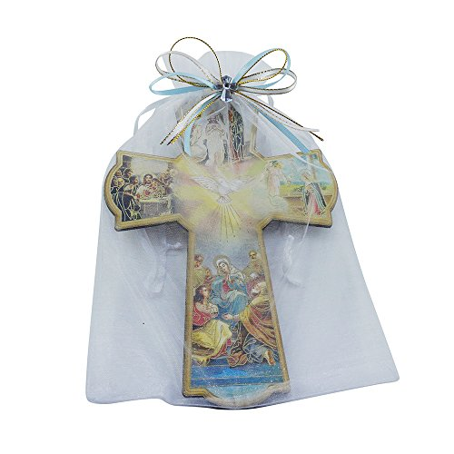 Baptism Wall Cross Favor in Decorated Organza bag 12pcs by WE (Image #3)