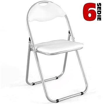 BAKAJI. Juego 6 sillas acolchadas plegables. Para ahorrar ...