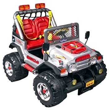 PEG PEREGO ELECTRIC 12 VOLT GAUCHO ROCK\'IN RIDE ON JEEP / CAR ...