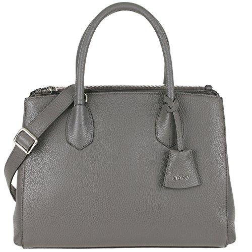 abro Handtasche Calf Adria Leder in grey ab-27565-37-12