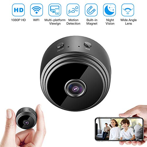 32GB Mini HD 1080P Wireless Hidden Camera,Home WiFi Remote Security Cameras,Smart Motion Detection,Instant Push Notifications, Remote Playback,Magnetic Feature,Night Vision Spy Camera,by HZTCAM