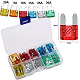 120 Pieces 5A 10A 15A 20A 25A 30A Mini Blade Fuse Assortment Automotive Car Truck Fuses
