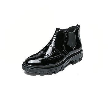 HYLFF Los Hombres Chelsea Botas de Tobillo señaló Toe Trabajo Botas Individuales Zapatos Casuales Trajes Perezosos Botas de Moda Zapatos de Cuero Mocasines ...