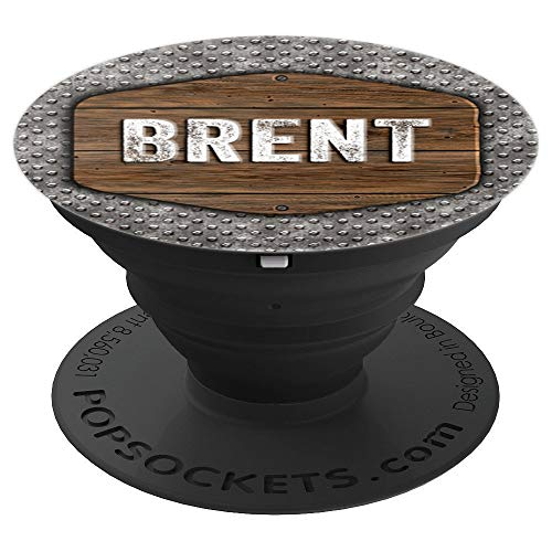 Brent Gift Vintage Distressed Rustic Skid Plate Brent - PopSockets Grip and Stand for Phones and Tablets