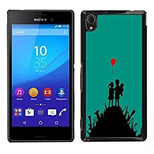 Impact Case Cover with Art Pattern Designs FOR Sony Xperia M4 Aqua cute love art heart boy girl war fight Betty shop